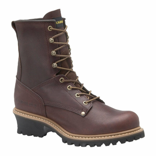 Carolina 8in Plain Toe Logger Boots - Briar - 821 - 11.5EE - Clearance
