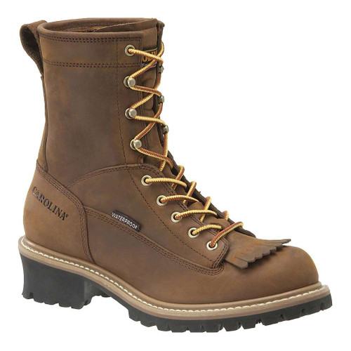 Carolina 8 Inch Waterproof Lace to Toe Logger Boots - CA8824 - 9D - Clearance
