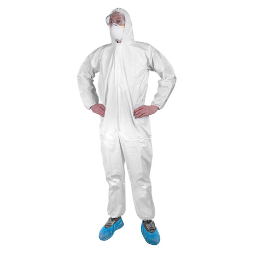 Rugged Blue Premium Hooded Disposable Coverall- Available in S, M, L, XL, 2XL, 3XL