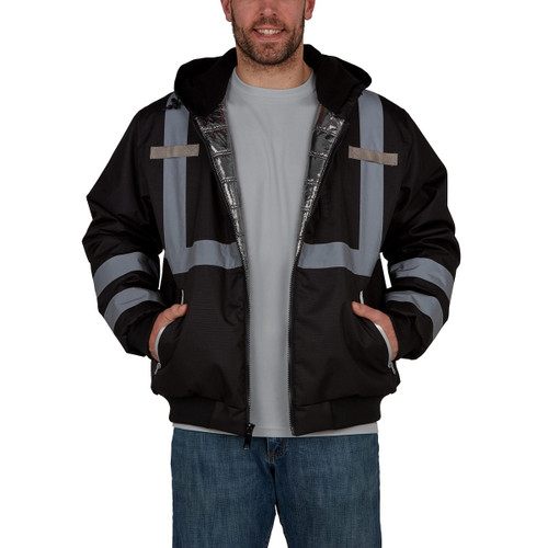 Utility Pro Enhanced Visibility Warm Up Hooded Bomber - UPA889
