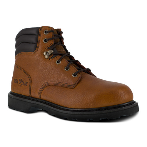 "Iron Age Backhoe Men's Brown 6"" Work Boot"