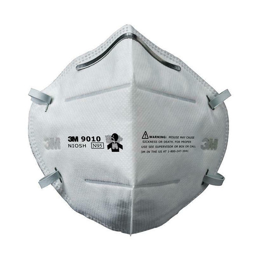 3M N95 50 Pack Protective Face Mask R9010 With Elastic Headband