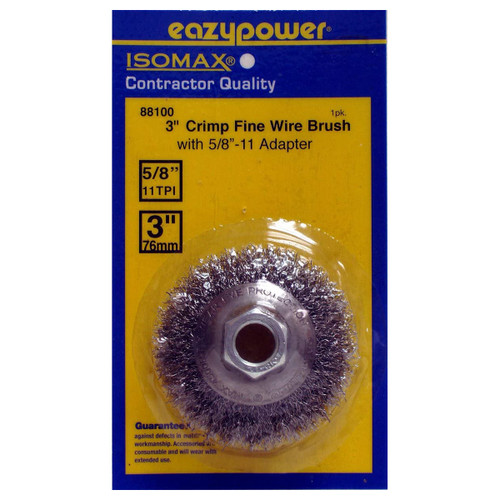 "Eazypower 3"" Crimp Fine Wire Beveled Brush with 5/8""-11"" Arbor"