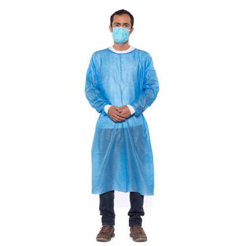 10 Pack Level 2 Polypropylene Isolation Gown- L