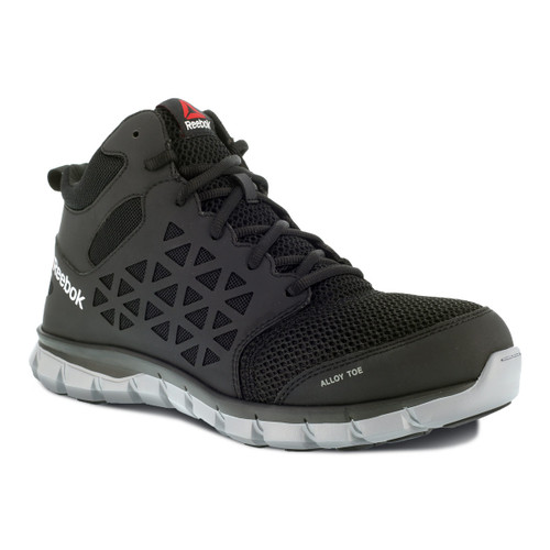 Men's Reebok Sublite Cushion Work Mid Cut Athletic Safety Shoes - RB4141