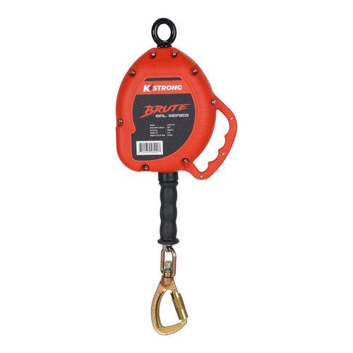K-Strong BRUTE 30ft. Cable SRL with load indicating swivel locking carabiner