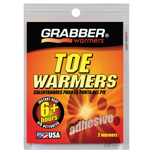 Grabber Toe Warmer with Adhesive - Pair