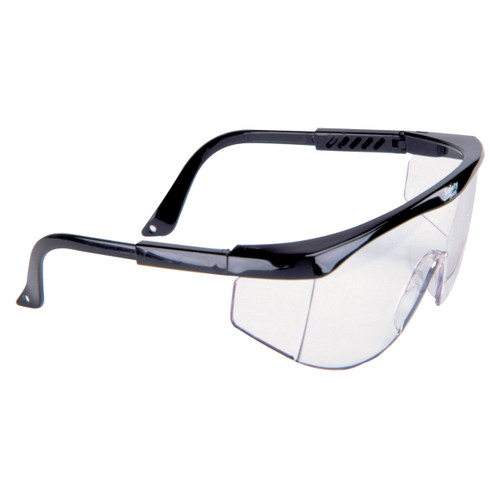 MSA Sierra Black Frame Safety Glasses w/ Clear Lens