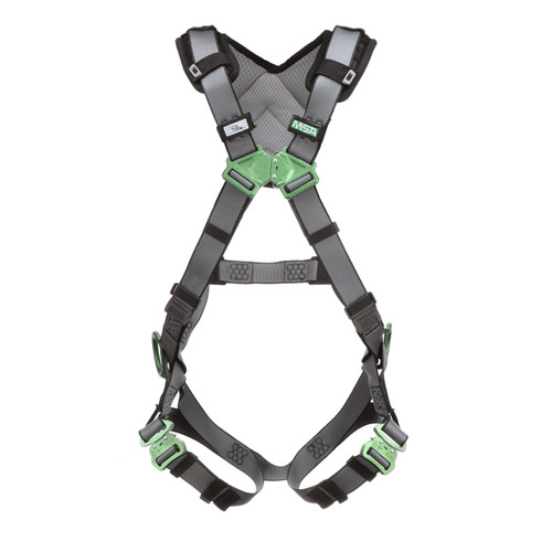 MSA V-FIT Safety Harness with Back & Hip D-Rings and Quick Connect Leg Straps