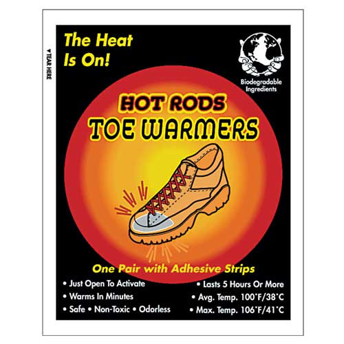 HOT RODS Toe Warmers - Pack of 5 Pairs