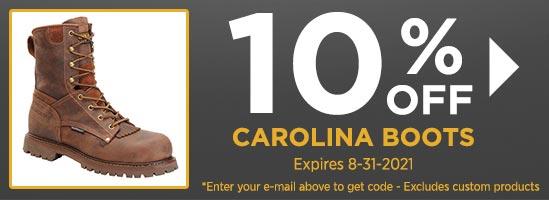 10% Off Carolina Boots