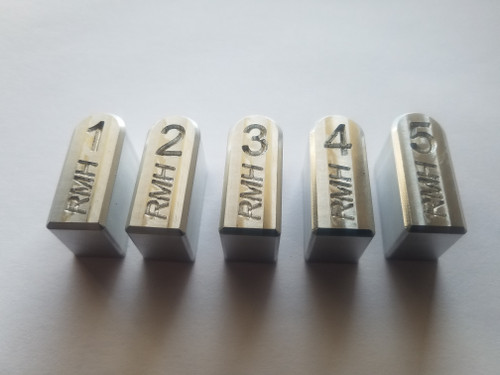 numbered base pad set raw aluminum