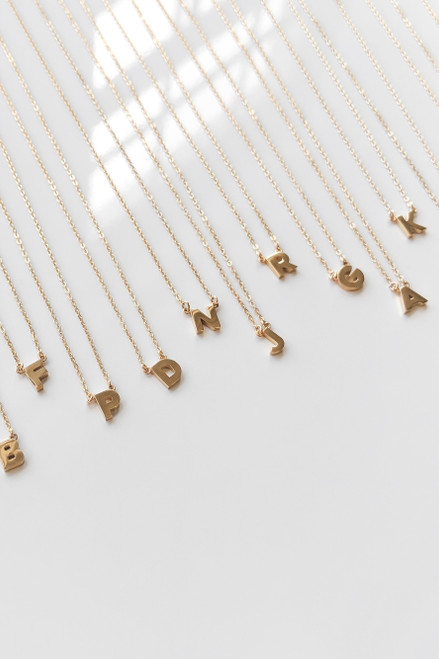 INITIAL PLATED NECKLACE