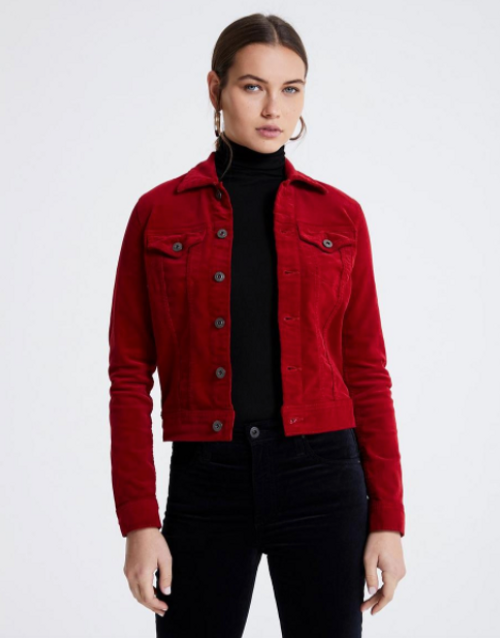 THE ROBYN JACKET RED CORDUROY