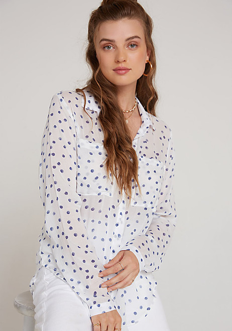 HIPSTER SHIRT BLUE DOTS