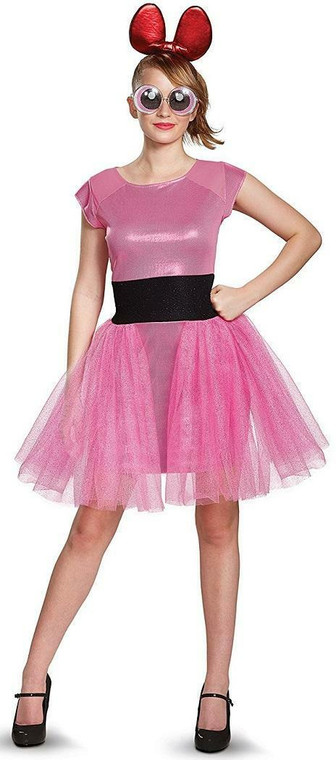 Blossom Power Puff Girls Deluxe Adult Costume