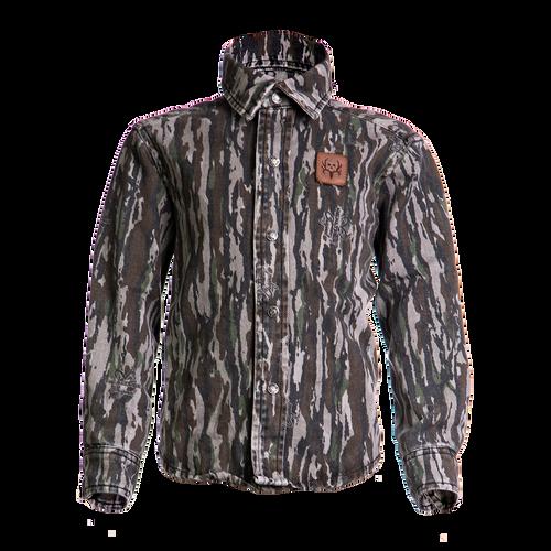 Camo L/Sleeve Twill Button-Up Shirt