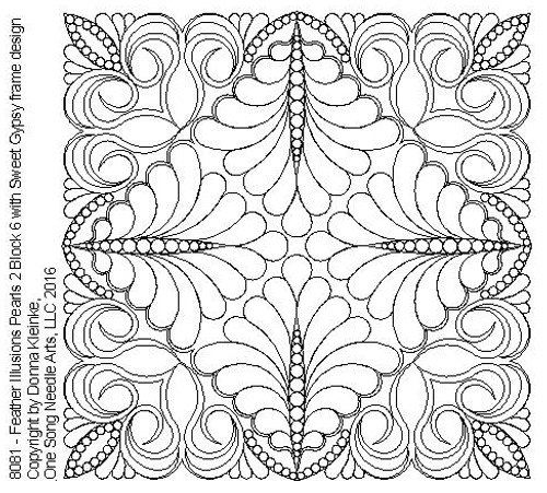 Feather Illusions Pearls 2 Block 5 - #8081