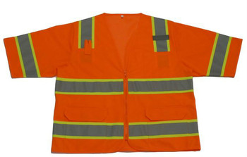 ANSI CLASS 3 SAFETY VEST, TWO TONE, 6 PKTS