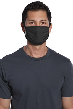 PORT AUTHORITY COTTON KNIT FACE MASK, BLACK (150/PIECES)