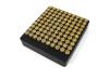 100-Hole 9mm Luger Chamber Checker Cartridge Case Gauge - Anodized Black Hundo Casegauge by Shockbottle shock bottle