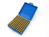 100-Hole 9mm Luger Chamber Checker Cartridge Case Gauge - Anodized Black Hundo Casegauge