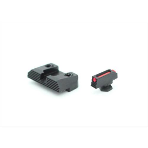 Glock EDC Fiber Front / Black Rear Sight Set by Henning