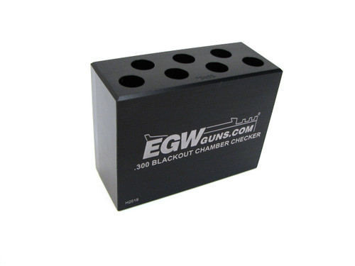 .300 Blackout 7-Hole Chamber Checker Case Gauge by EGW (70166)