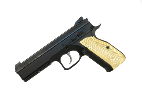 CZ Shadow 2 Factory Brass Grips (40542)