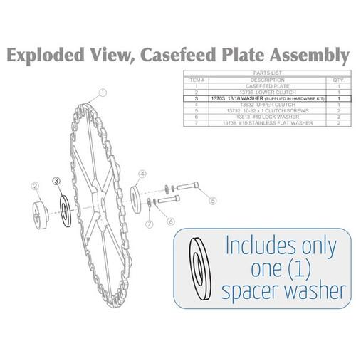 Dillon Precision Casefeeder Washer Spacer (13703)
