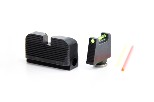 TTI Ultimate Fiber Optic Sights Set for Glock with Optic Cut by Taran Tactical