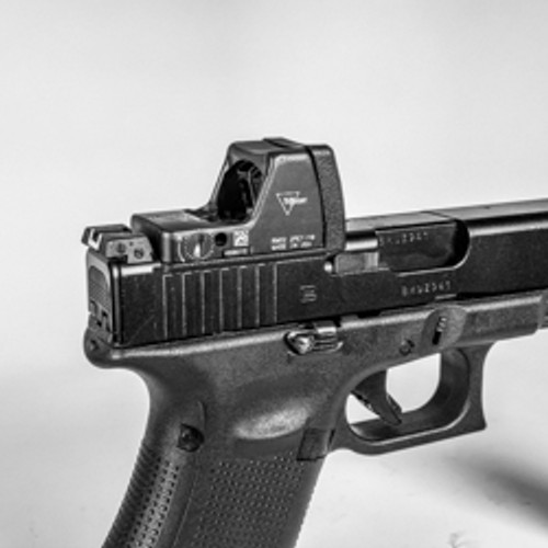 Glock MOS V4 Defender Optic Plate for Trijicon RMR (Type 1 & 2) by CHPWS GL-RMR-DEF