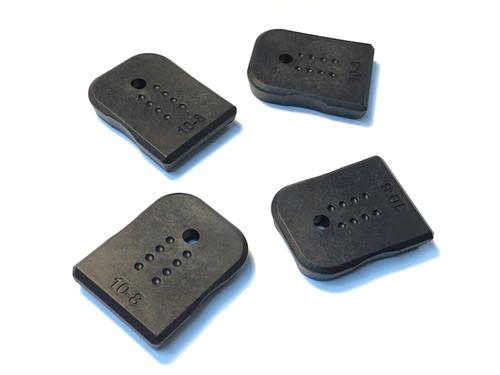 Glock Magazine Base Pads 4-Pack by 10-8 Performance Black