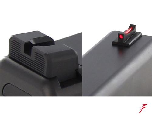 Dawson Precision Glock Gen5 G17/G19 MOS Fixed Non Co-Witness Sight Set (310-260)