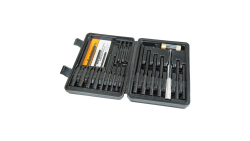 Wheeler 22-Piece Roll Pin Punch Master Set with Hammer (110128)