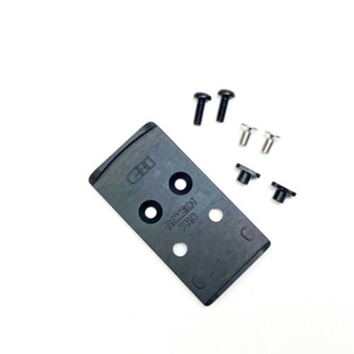 V4 MOS GLOCK MIL/LEO Red Dot Optic Adapter Plate to Vortex Razor by CHPWS (GL-VRZR)