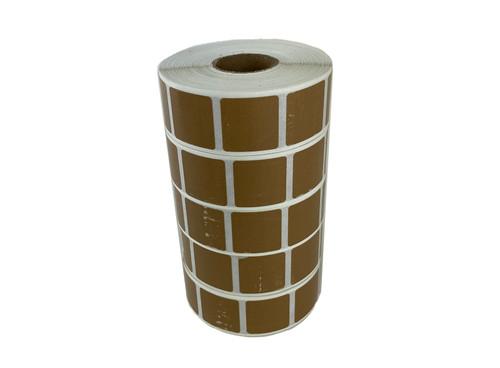 5,000 Tan Target Pasters - (5 Rolls) (