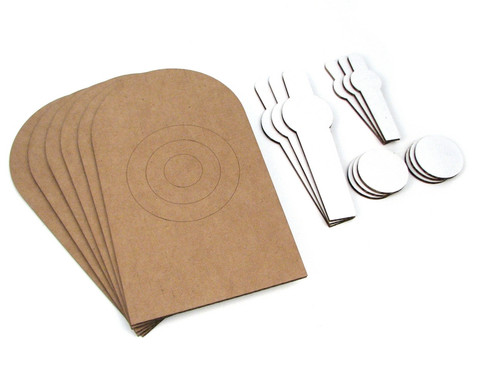 Scaled Dryfire Target Kit including NRA D1 Targets, Poppers, Mini-Poppers, and Dots