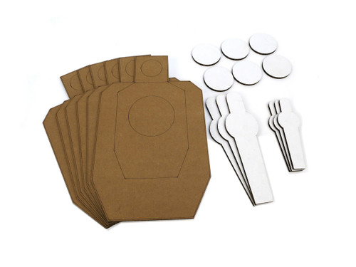 Scaled Dryfire Target Kit including IDPA Style Targets, Poppers, Mini-Poppers, and Dots New Style 2017