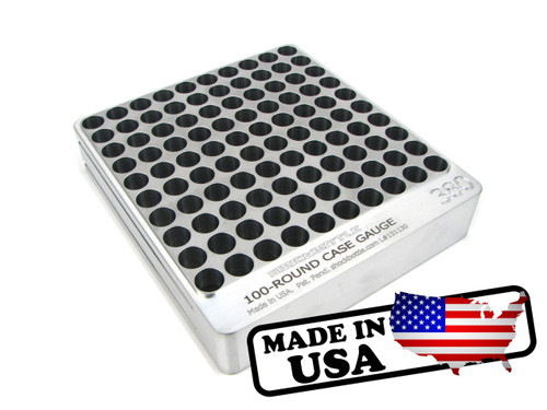 100-Hole .380 Hundo Chamber Checker Cartridge Case Gauge Casegauge by Shockbottle shockbottle (CG380-100)