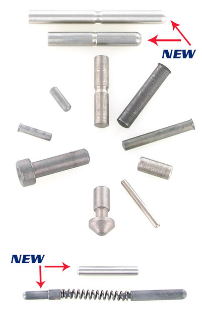 Spare Replacement Pin Sets 1911/2011 by Dawson Precision (037-039) Stainless Steel