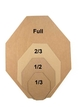 6 pack - 1/2 Scale Dryfire USPSA/ IPSC Classic Style Cardboard Targets