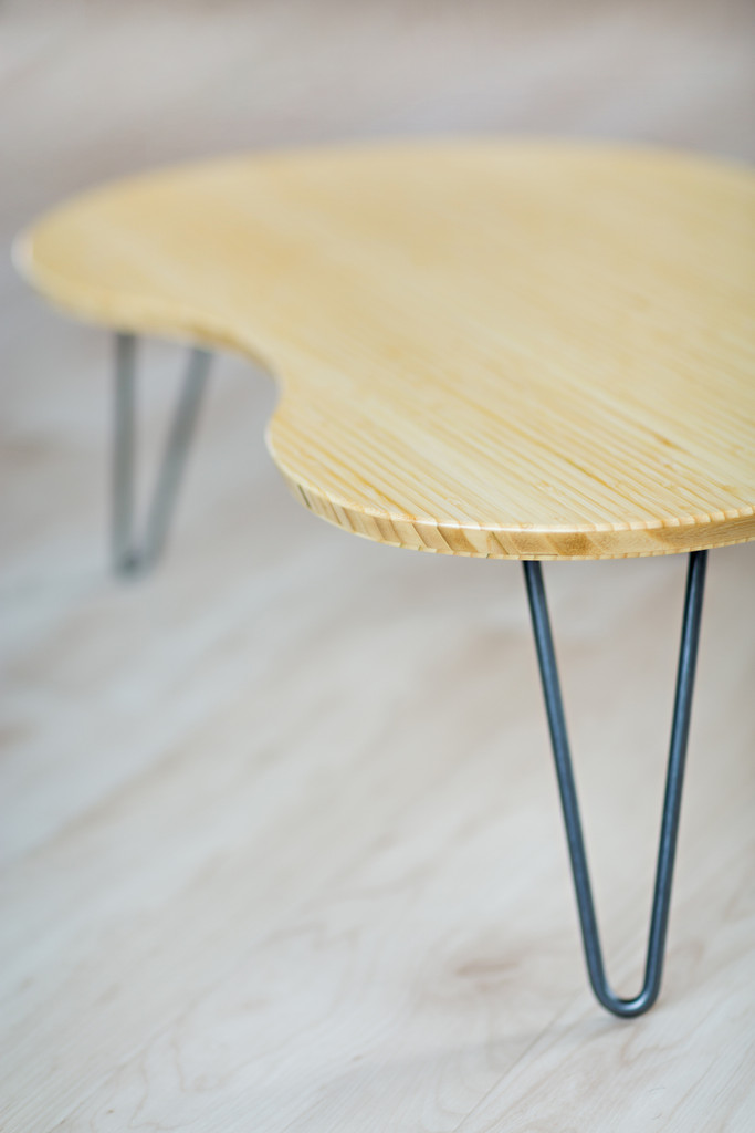 Detail of Flow Desk, Tria in natural bamboo