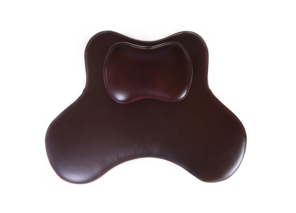 Large Soul Seat in burgundy leather for cross legged sitting