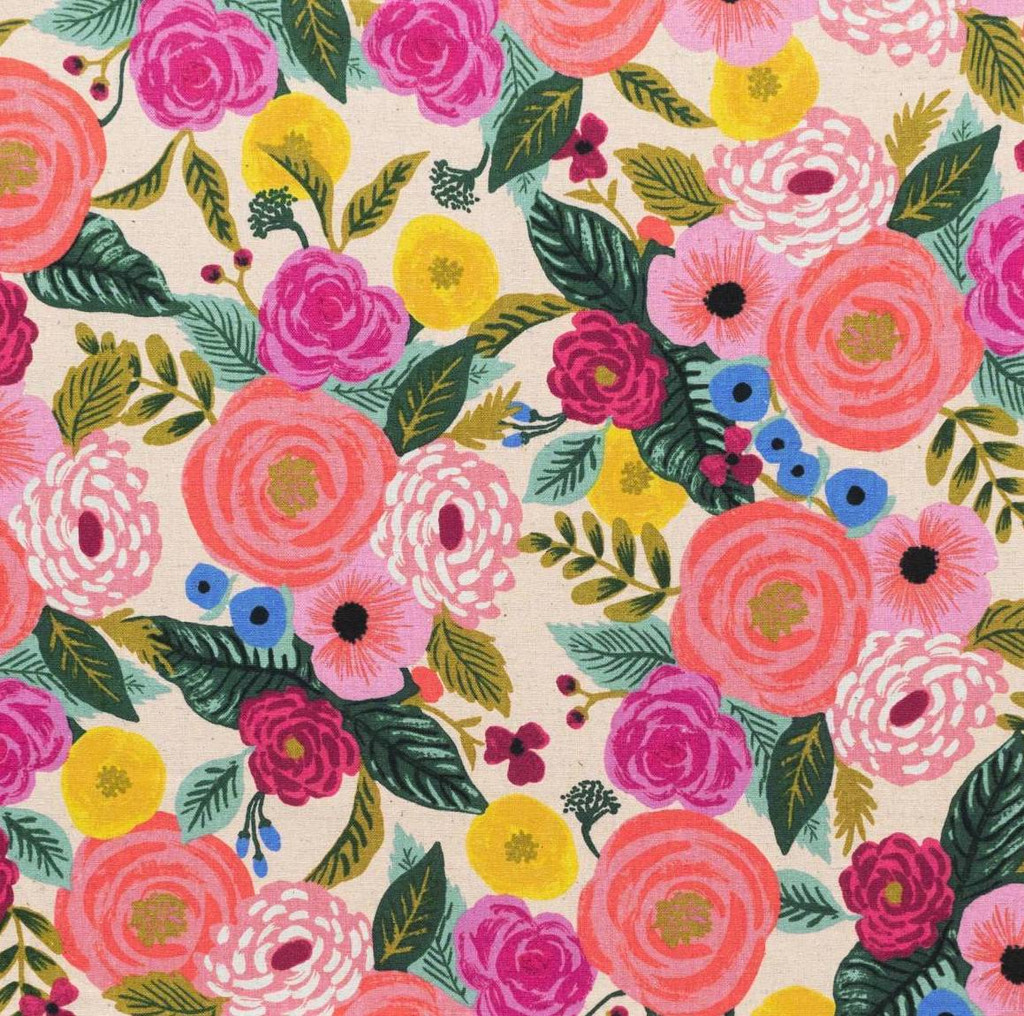 Juliet Rose (Cream) fabric from Rifle Paper Co