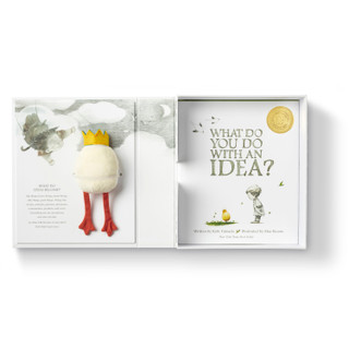 Front of What Do You Do With an Idea? Gift Set with plush and book