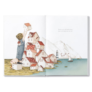Inside spread of Maybe, a children's illustrated book  by Kobi Yamada and Gabriella Barouch