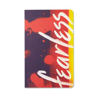Front of Write Now Journal: Fearless.