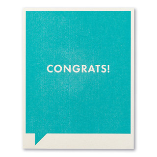 """A blue Congratulations card with the statement """"Congrats!"""""""