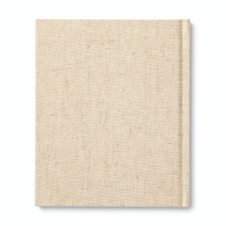 """Back cover, """"Even Though"""", an encouragement book with a calming, neutral cloth cover design, written by M.H. Clark"""